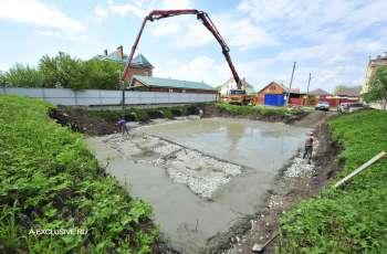 Заливка бетонной подготовки